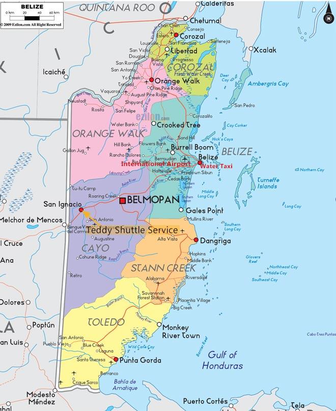 Belize Road Map