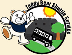 teddy bear shuttle logo